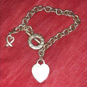 Authentic Tiffany Heart Bracelet
